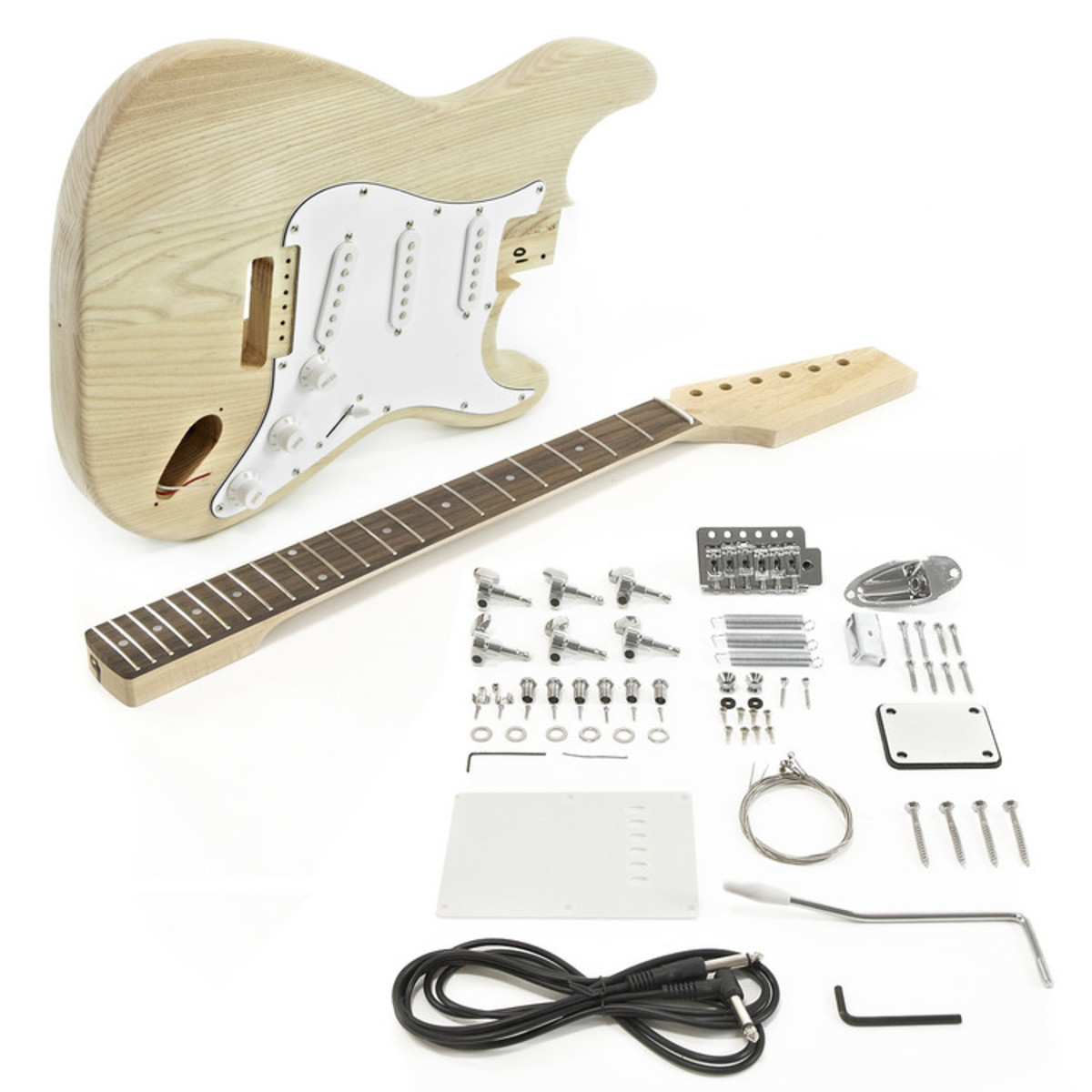la electric guitar diy kit ash body b stock at gear4music. Black Bedroom Furniture Sets. Home Design Ideas