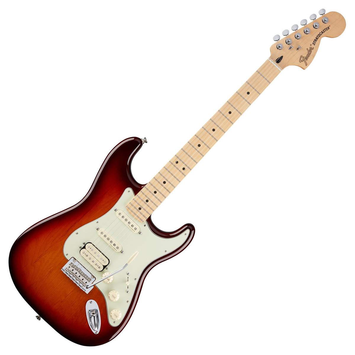 fender deluxe stratocaster hss electric guitar tobacco sunburst box opened at gear4music. Black Bedroom Furniture Sets. Home Design Ideas