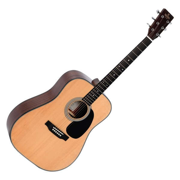 Sigma DM-1ST+ Acoustic Guitar, Natural Front View