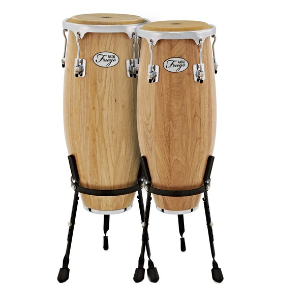 Natal Natural Wood Congas 10'' & 11'' Matte Natural
