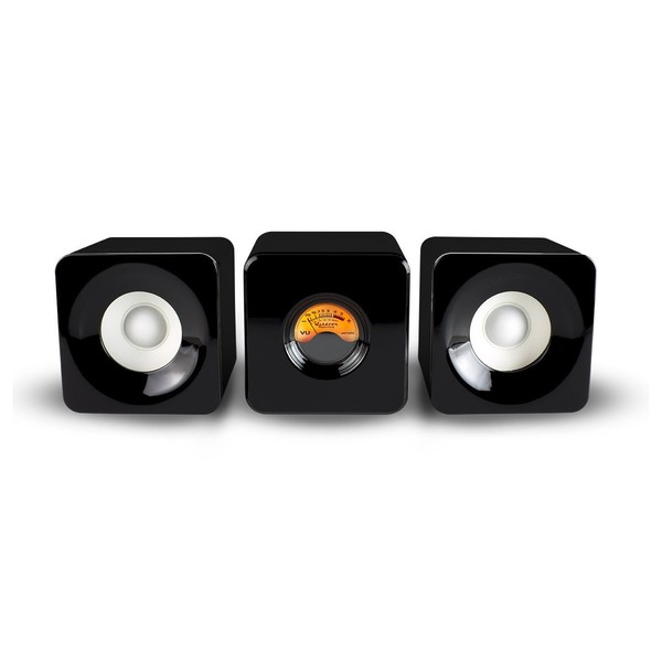 Meter M-Cubed Desktop Bluetooth Speakers, Black - Main