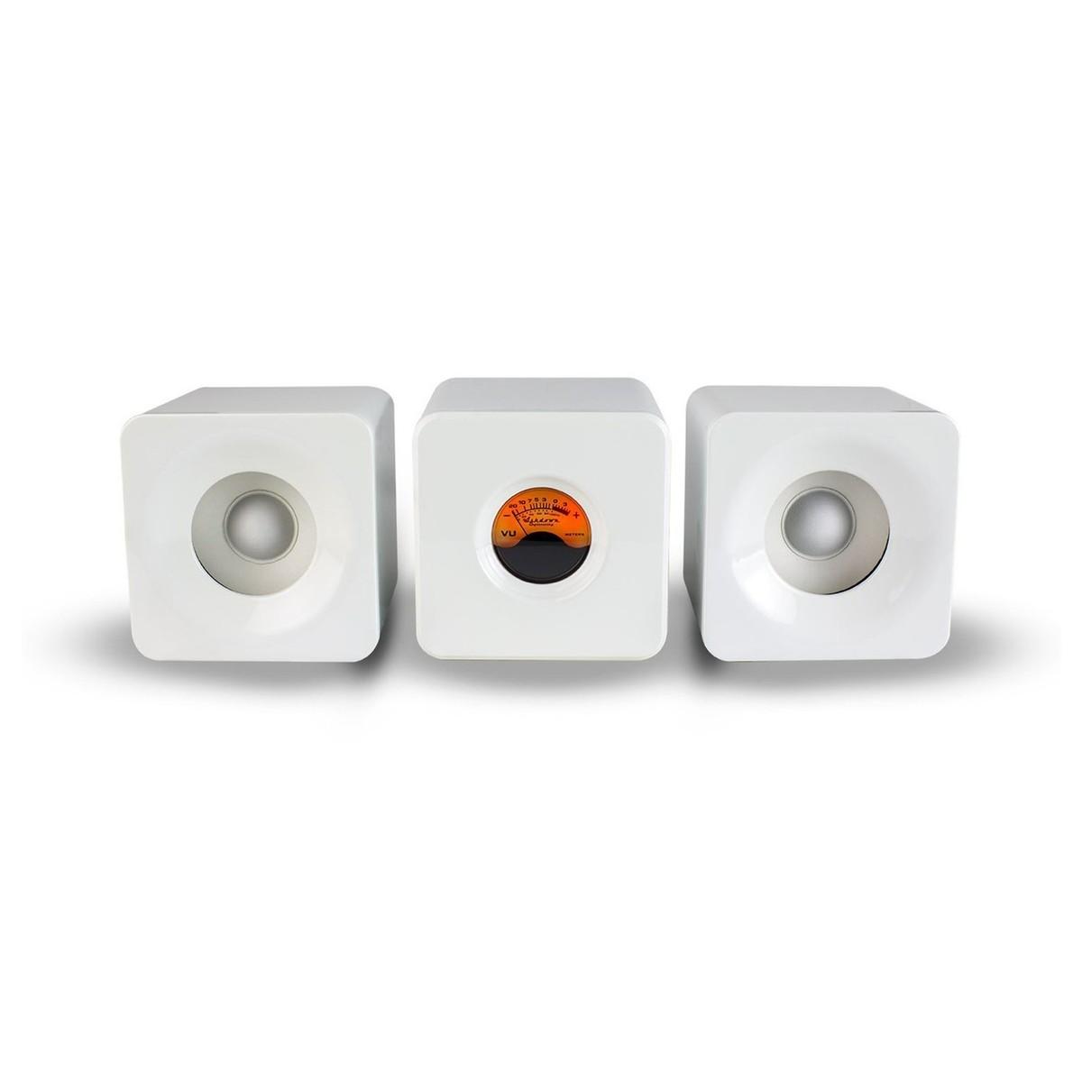 Meter M-Cubed Desktop Bluetooth Speakers, White