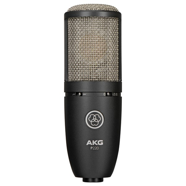 AKG P220 Large Diaphragm Condenser Microphone - Front