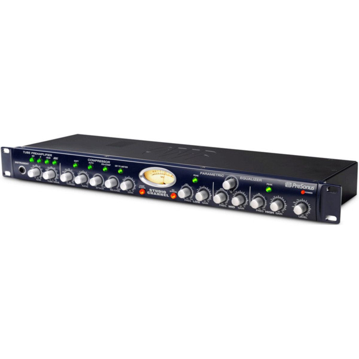 Presonus Studio Channel Mono Vacuum Tube Preamp Compressor Eq B Audio Vu Meter Circuit Loading Zoom