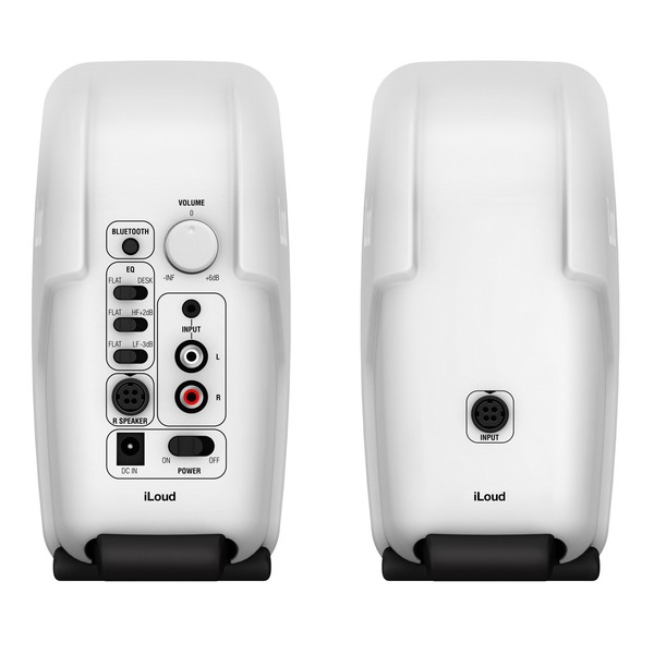 IK Multimedia iLoud Micro Monitor Studio Referencing System, White - Back