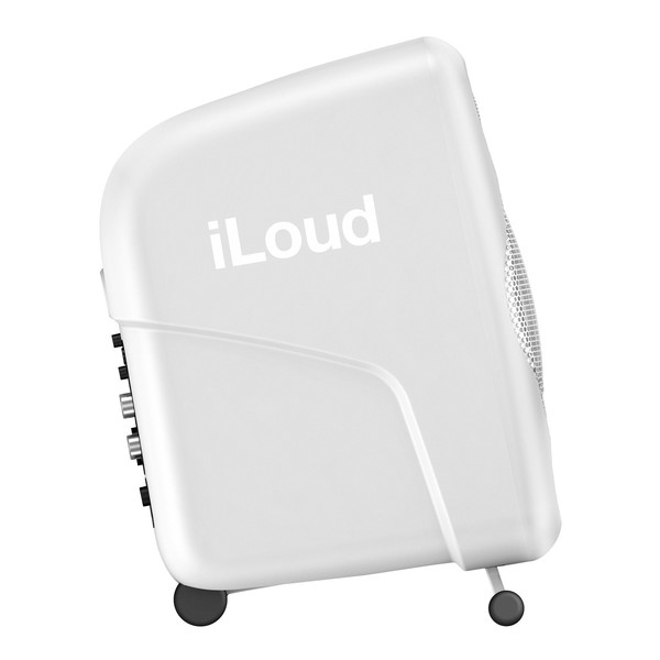 IK Multimedia iLoud Micro Monitor Studio Referencing System, White - Side Angled