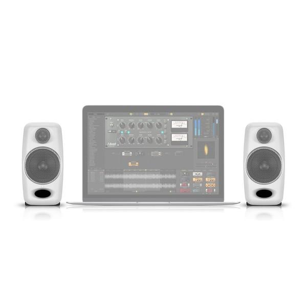 IK Multimedia iLoud Micro Monitor Studio Referencing System, White - Size Comparison