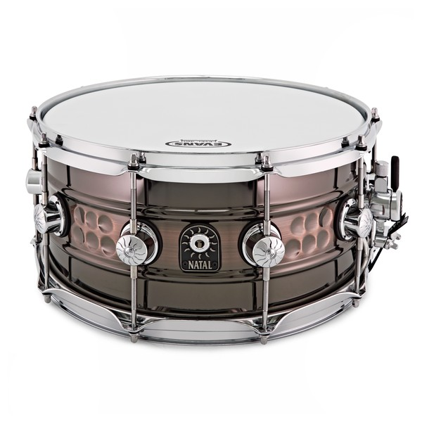 Natal Cafe Racer 14'' x 7'' Steel Beaded Hand Hammered Snare