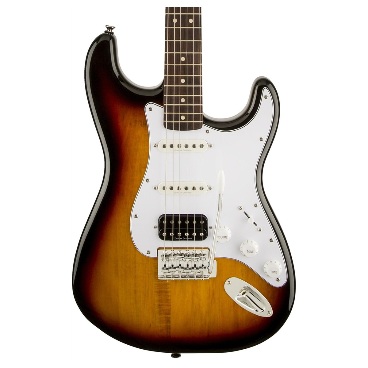 squier vintage modified stratocaster hss 3 tone sunburst at gear4music. Black Bedroom Furniture Sets. Home Design Ideas