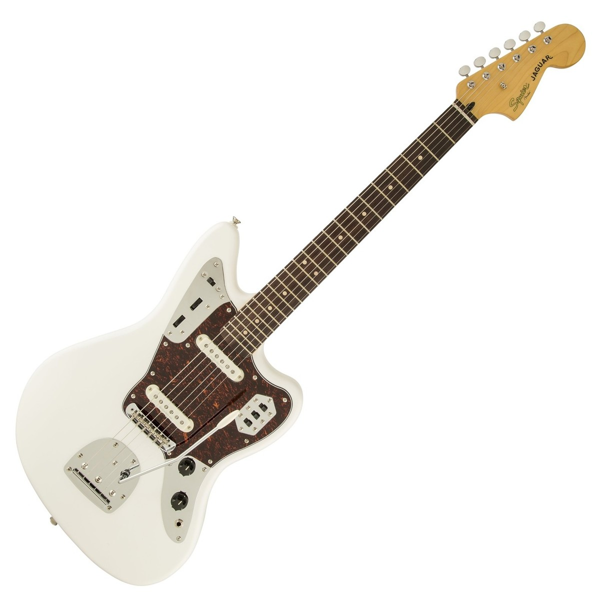 squier vintage modified jaguar olympic white at gear4music. Black Bedroom Furniture Sets. Home Design Ideas