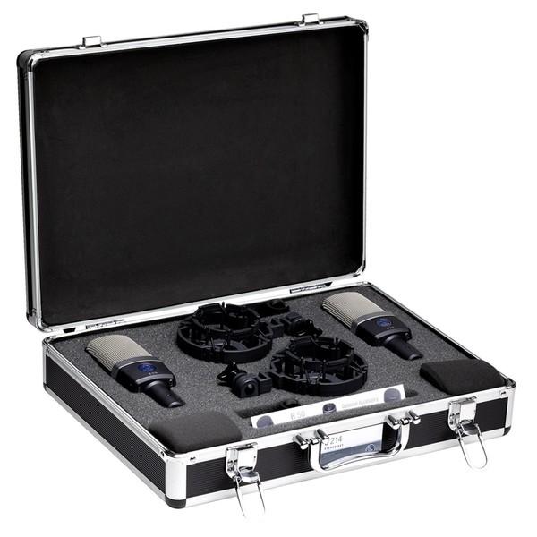 AKG C214 Condenser Microphone Stereo Pair - Bundle