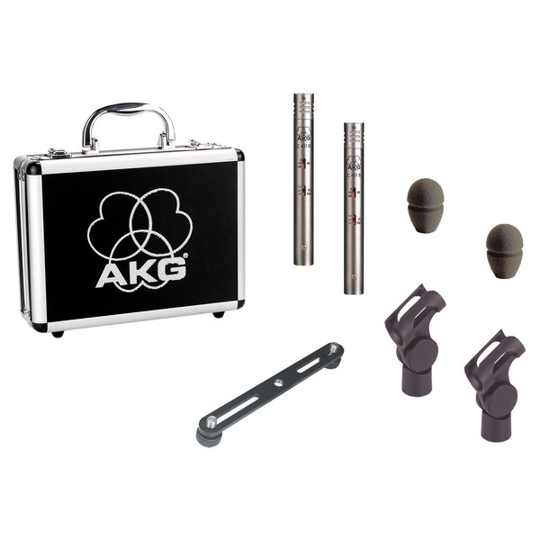 AKG C451B Condenser Mics Stereo Pair - Full