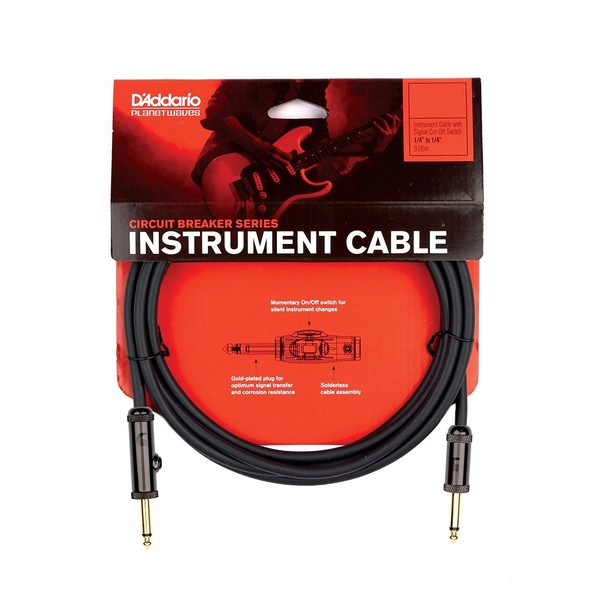 "Planet Waves Circuit Breaker 1/4"" Instrument Cable, 10ft"