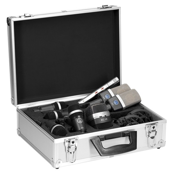 AKG Drumset Premium Microphone Pack - Full Contents