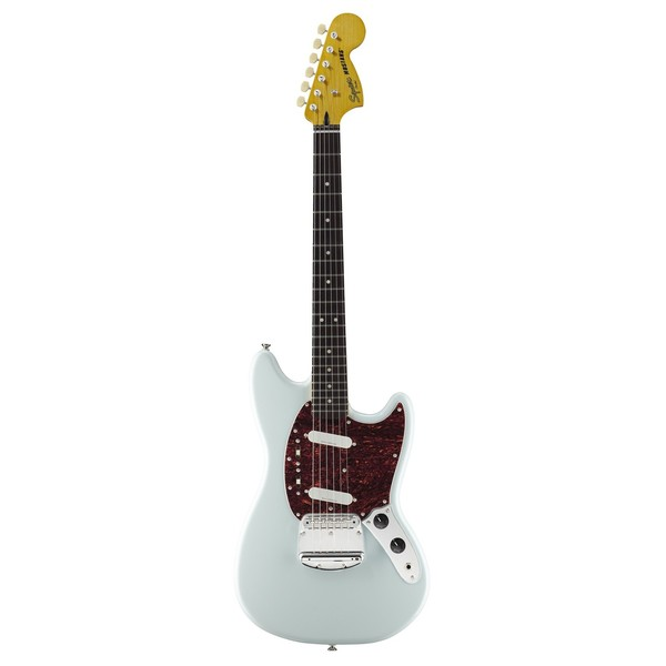 Squier Vintage Modified Mustang, Sonic Blue front view