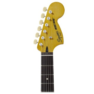 Squier Vintage Modified Mustang, Sonic Blue headstock
