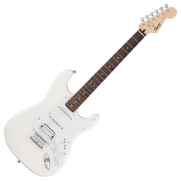 Squier Bullet Stratocaster HSS Hard Tail, Arctic White - Front View