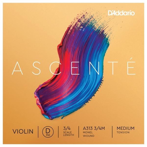 D'Addario Ascenté Violin D String, 3/4 Size, Medium