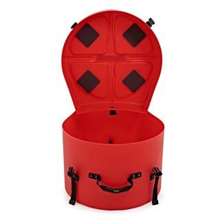 "Hardcase 14"" Floor Tom Case, Red"
