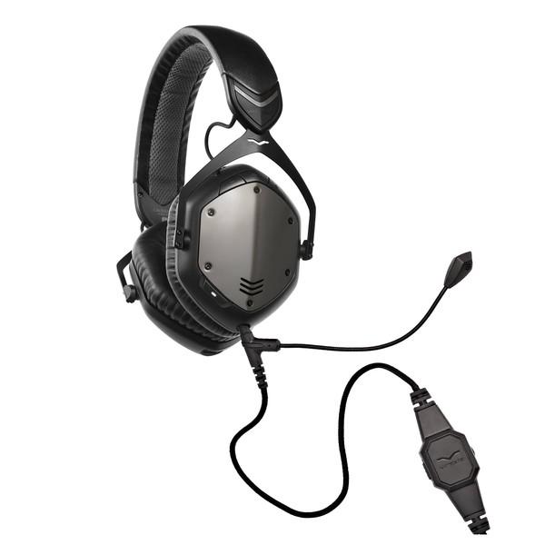 V-Moda Crossfade Wireless Gaming Headset, Gunmetal - Bundle