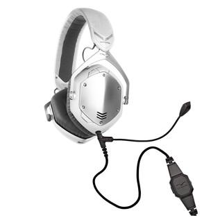 V-Moda Crossfade Wireless Gaming Headset, White Silver - Bundle