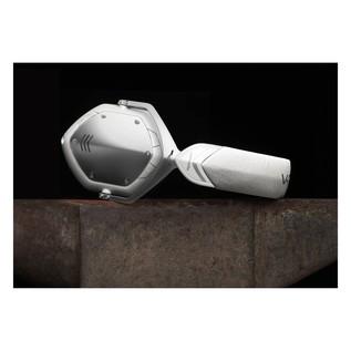 V-Moda Crossfade Wireless Bluetooth Headphones, White Silver - Lifestyle