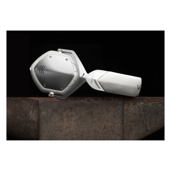 V-Moda Crossfade Wireless Bluetooth Headphones, White Silver - Lifestyle