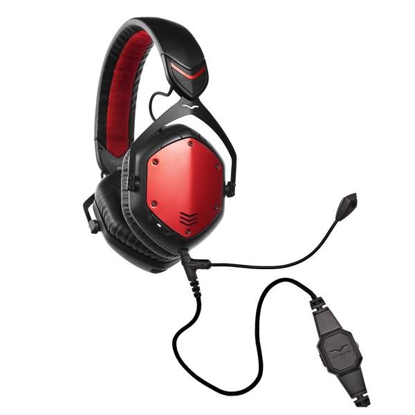 V-Moda Crossfade Wireless Gaming Headset, Rouge - Bundle