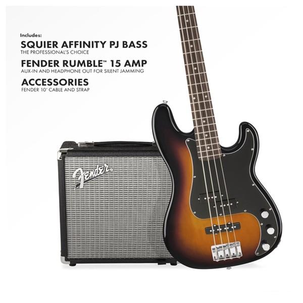 squier affinity pj bass pack brown sunburst at gear4music. Black Bedroom Furniture Sets. Home Design Ideas