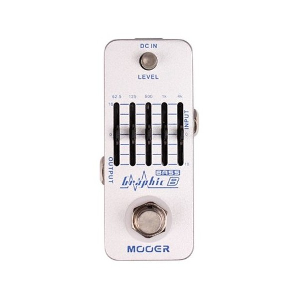 Mooer Micro Graphic EQ Bass Pedal - front