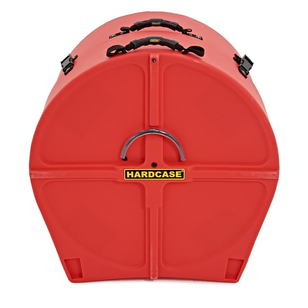 Hardcase 20'' Bass Drum Case with Wheels, Red