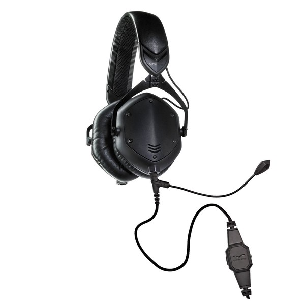 V-Moda M-100 Crossfade Gaming Headset, Matte Black - Bundle