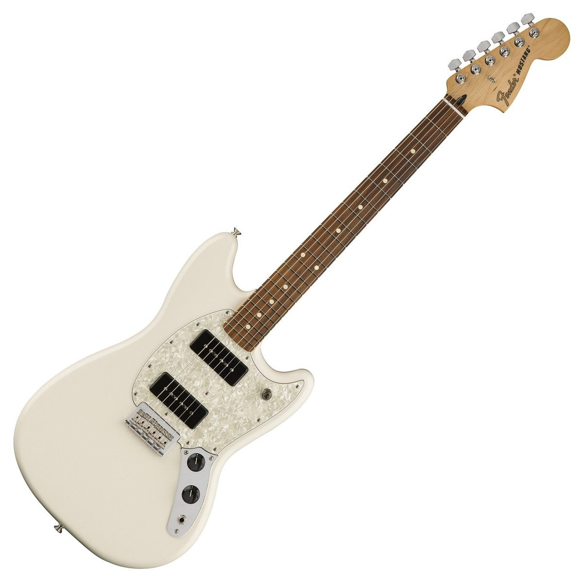fender mustang 90 electric guitar pau ferro olympic white b stock at gear4music. Black Bedroom Furniture Sets. Home Design Ideas