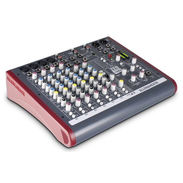 Allen and Heath ZED-10FX USB Compact Stereo Mixer - Angle