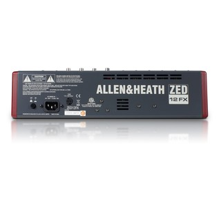 Allen and Heath ZED-12FX USB Compact Stereo Mixer - Back