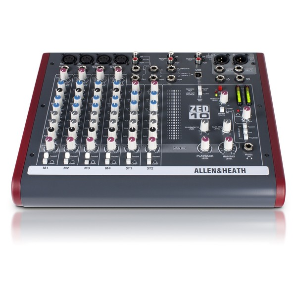 Allen and Heath ZED-10 USB Compact Stereo Mixer - Front