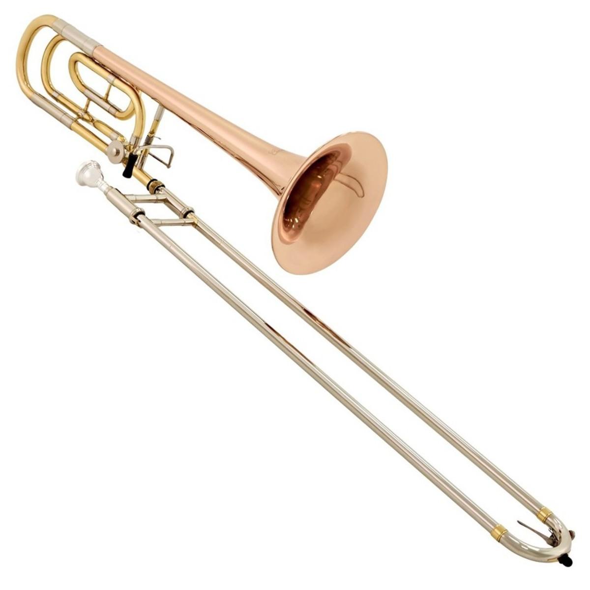 Conn Selmer 525tb Bb F Tenor Trombone Gold Brass Bell