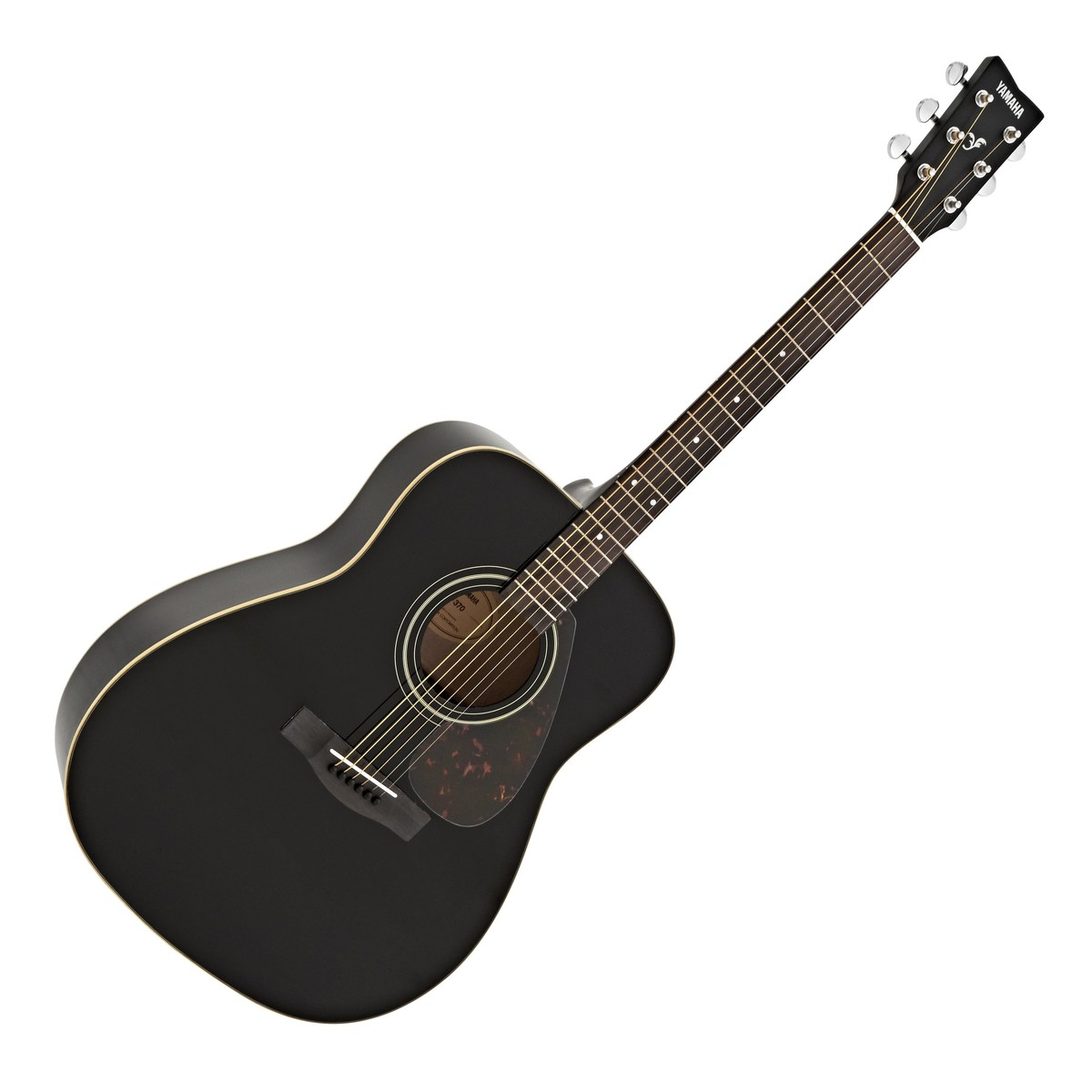 Yamaha f370 acoustic guitar black at for Yamaha acoustic bass guitar