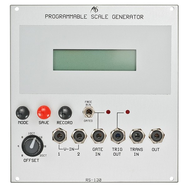 Analogue Systems RS-130 Programmable Scale Generator - Main