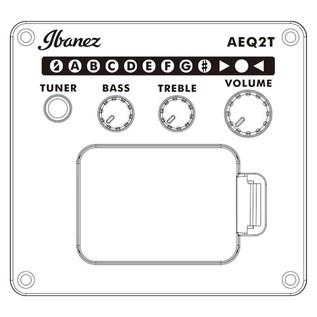 Ibanez TCY10E Electro Acoustic 2018, Black preamp controls