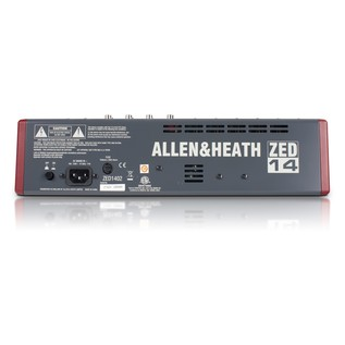 Allen and Heath ZED-14 USB Compact Stereo Mixer - Back