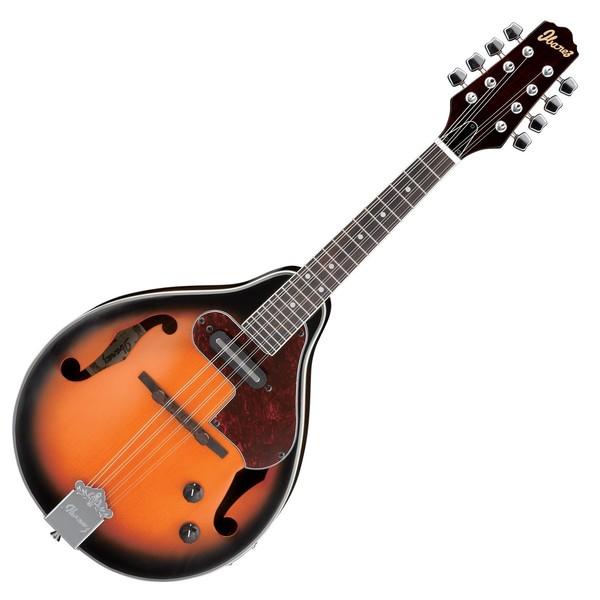 Ibanez M510E Electro Acoustic Mandolin 2018, Brown Sunburst