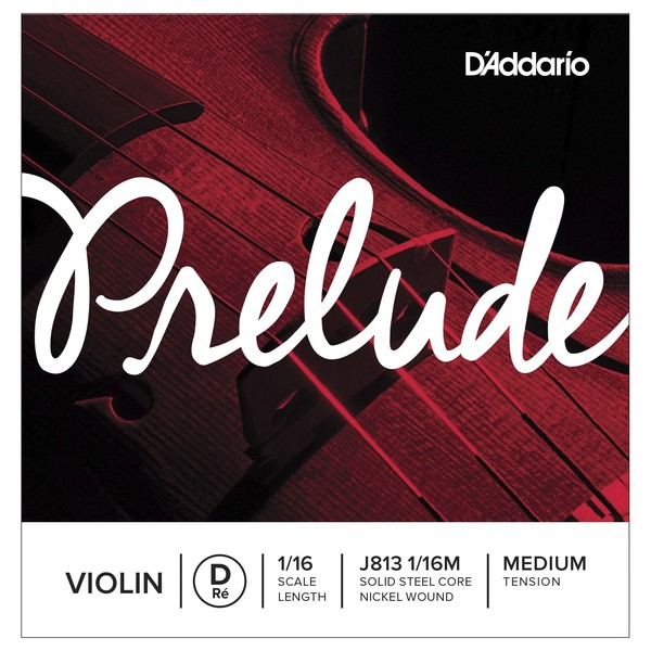 D'Addario Prelude Violin D String, 1/16 Size, Medium