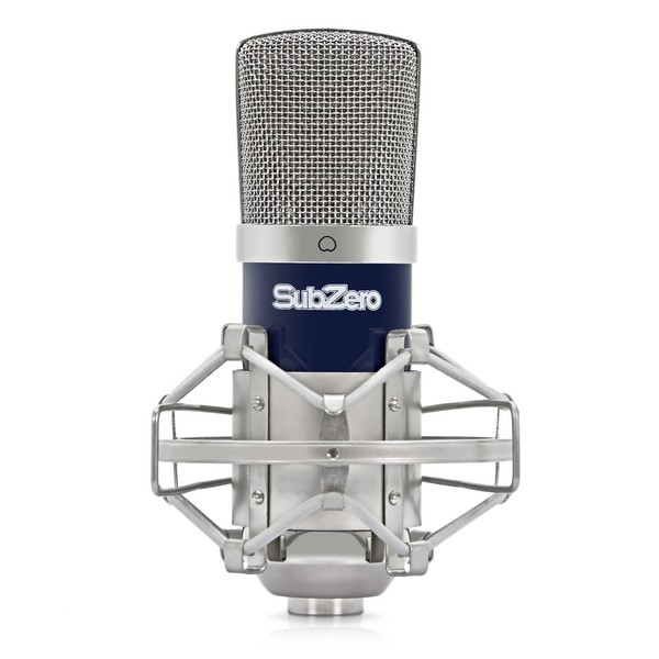 SubZero SZC-400 Condenser Microphone - Front with Shockmount
