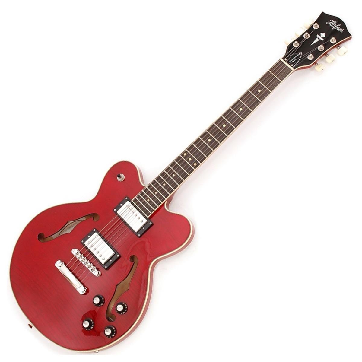 Hofner Electric Guitar : hofner verythin deluxe electric guitar transparent red at gear4music ~ Hamham.info Haus und Dekorationen