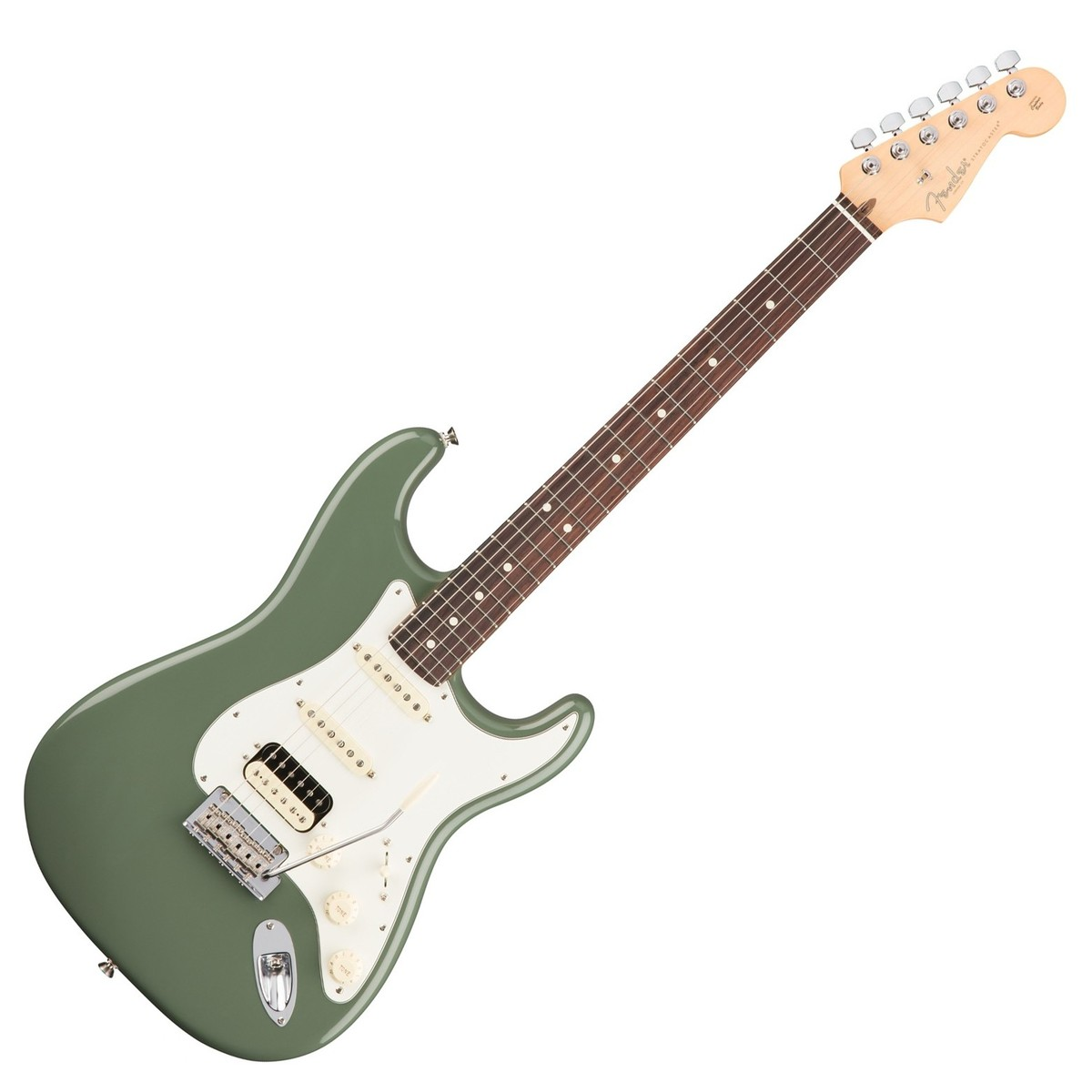 fender american pro stratocaster hss rw antique olive at gear4music. Black Bedroom Furniture Sets. Home Design Ideas