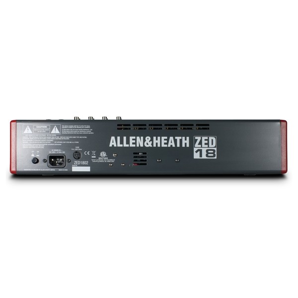 Allen and Heath ZED-18 Analog Mixer With USB - Rear