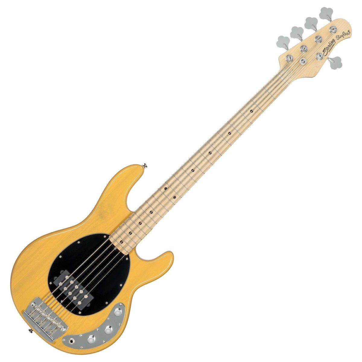 sterling by music man stingray5 classic 5 string bass butterscotch at gear4music. Black Bedroom Furniture Sets. Home Design Ideas