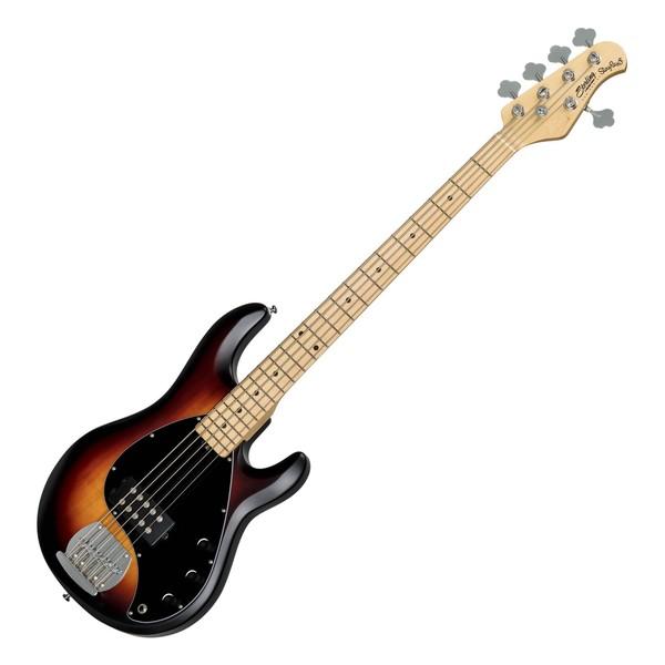 S.U.B by Sterling StingRay5 5-String Bass, Vintage Sunburst Satin