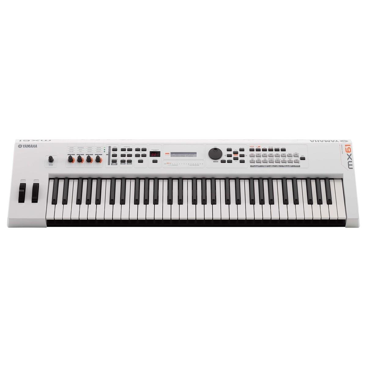 Yamaha mx61 ii music production synthesizer white b for Yamaha keyboard synthesizer